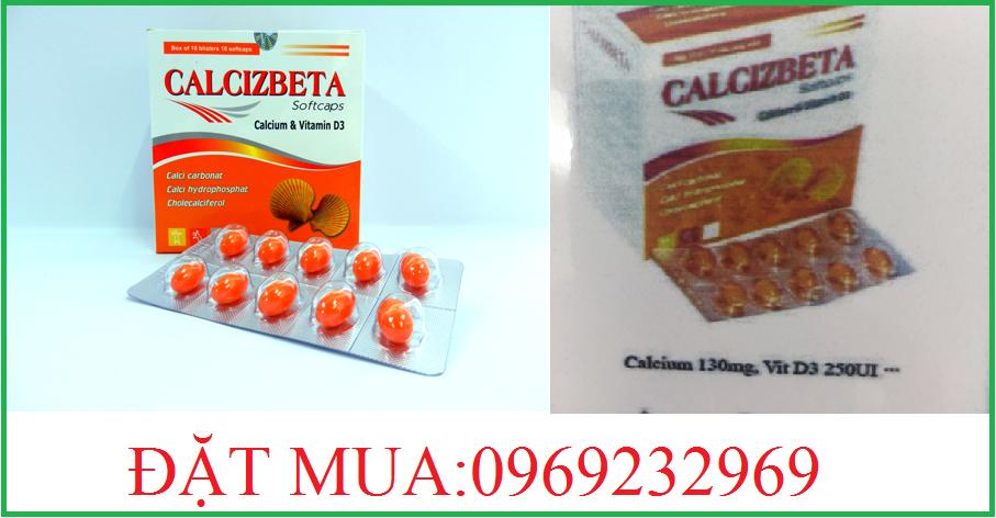 calcizbeta bổ sung thiếu canxi