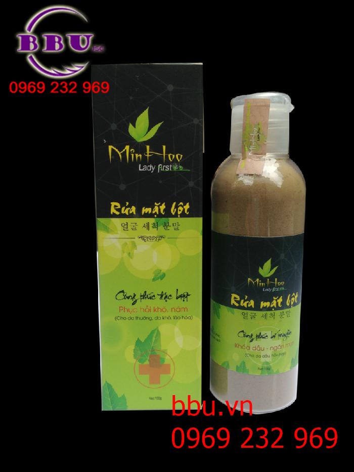 Bột rửa mặt cho da khô Min Hoo