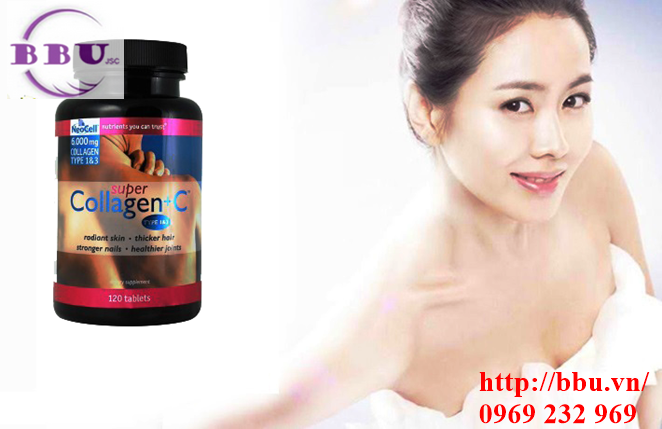 Collagen neocell 120 viên  type 1 and 3 plus vitamin C