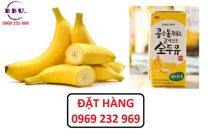 Công dụng của sữa đậu nành vị chuối Hanmi