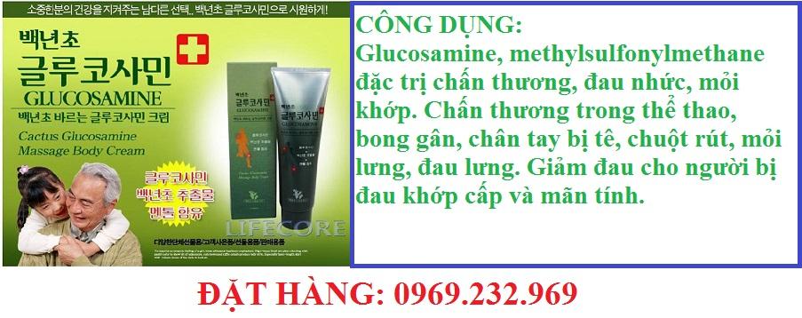 Dầu Lạnh xoa bóp Glucosamine 150ml