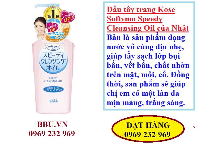 Dầu tẩy trang Kose Softymo Speedy Cleansing Oil 230ml của Nhật