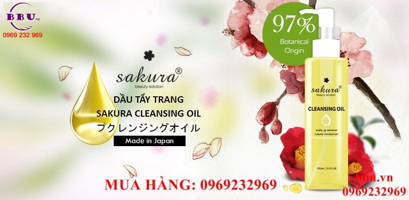 Dầu tẩy trang Nhật Bản Sakura Cleansing Oil