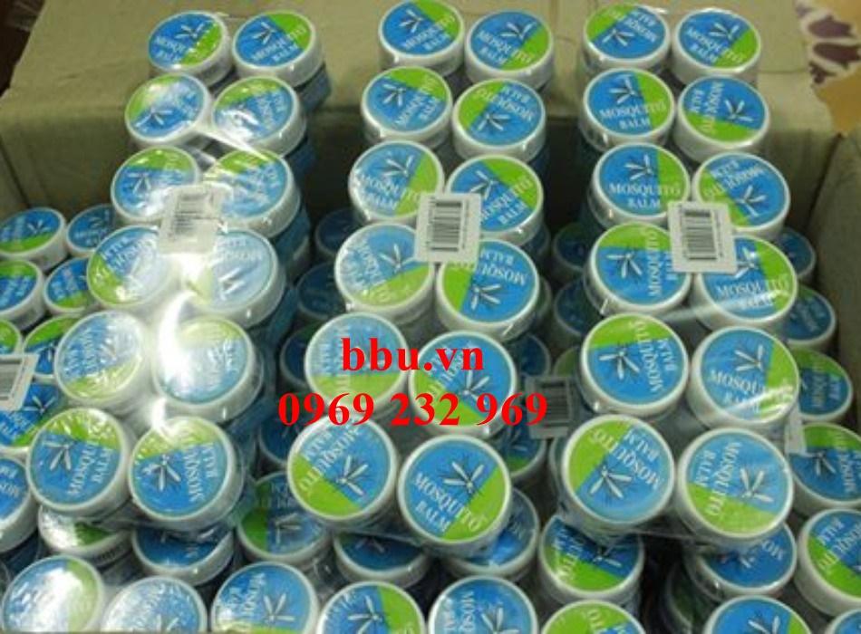 Dầu thoa trị muỗi đốt, côn trùng cắn, bong gân Green Balm Mosquito Brand Yanhee