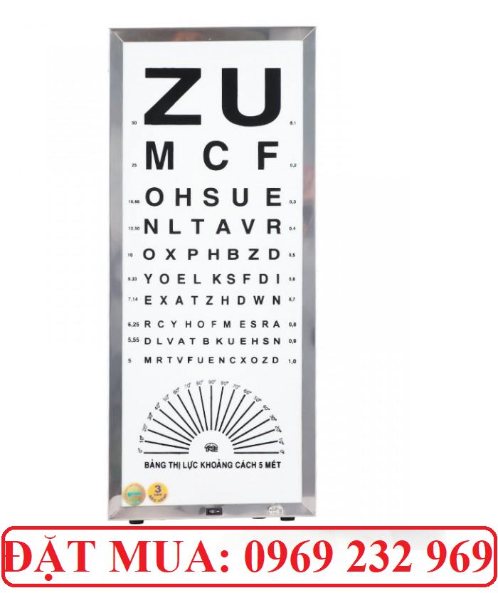 Bảng đèn thử thị lực, kiểm tra tật khúc xạ