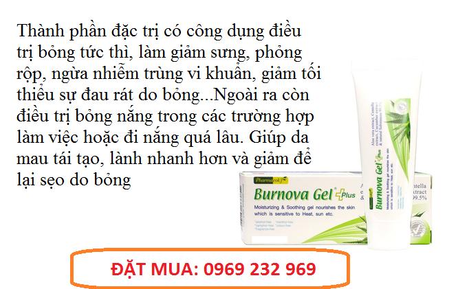 Gel Trị Bỏng Burnova Gel Plus