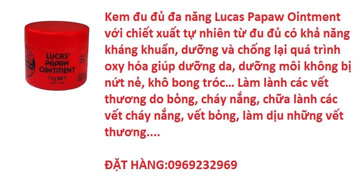 Kem đa năng đu đủ Lucas Papaw Ointment