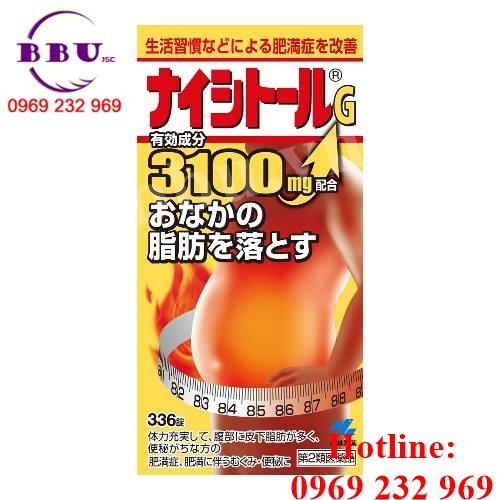 Thuốc giảm mỡ bụng Kobayashi Naishitoru G của Nhật Bản