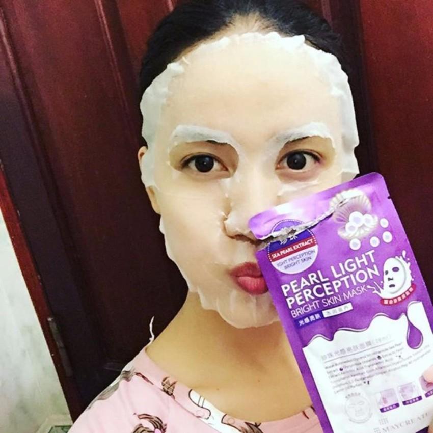 Mặt Nạ Dưỡng Trắng HA Pearl Light Perception Bright Skin Mask.