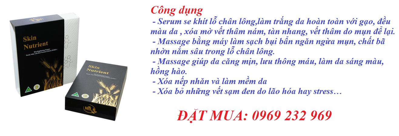Huyết Thanh Serum Skin Nutrient Brightening Essence Purely White (SAKE)+