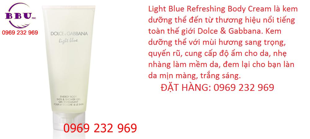 Kem dưỡng thể Dolce & Gabbana Light Blue 50ml của Đức
