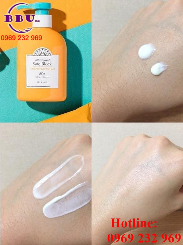 Gel chống nắng dưỡng ẩm MISSHA All Around Safe Block Total Moisture Sun Gel SPF50/PA