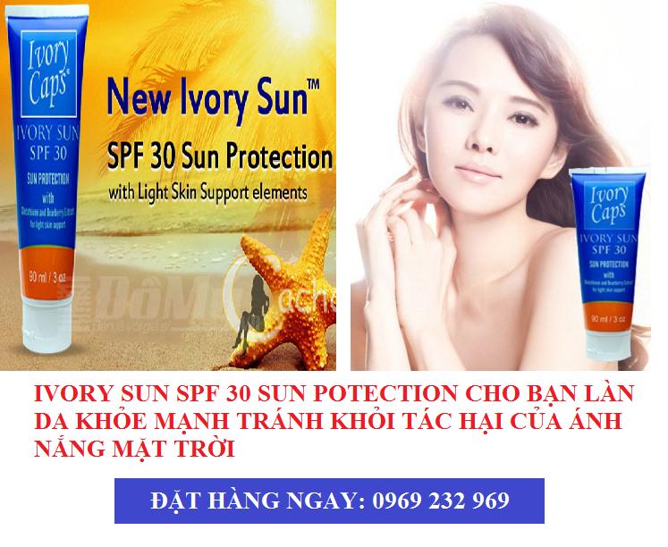 Kem Dưỡng Da Chống Nắng Ivory Sun SPF 30 Sun Protection 90ml