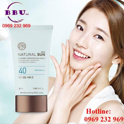 Kem Chống Nắng Natural Sun Eco No Shine Hydrating Sun Cream SPF40 PA
