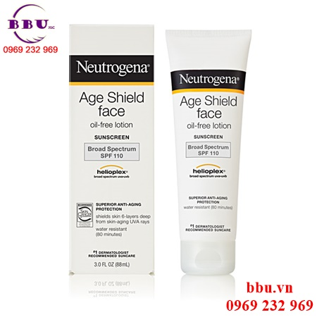 Kem chống nắng Neutrogena Age Shield Face Oil- Free SPF 110- 88ml của Mỹ