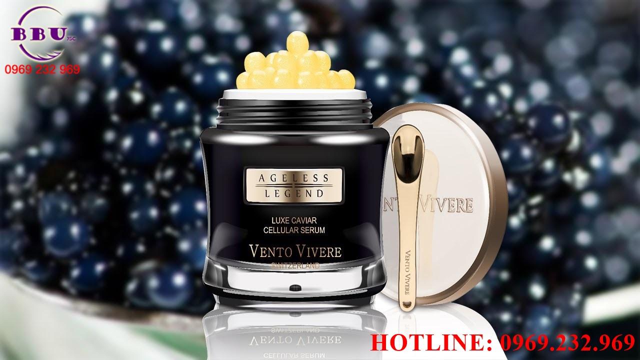 Kem dưỡng da cao cấp trứng cá tầm Vento Vivere Luxe Caviar Thụy Sĩ