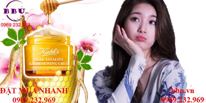Kem Dưỡng Tái Tạo Làn Da Kiehl\'s Pure Vitality Skin Renewing Cream Mini Chính Hãng