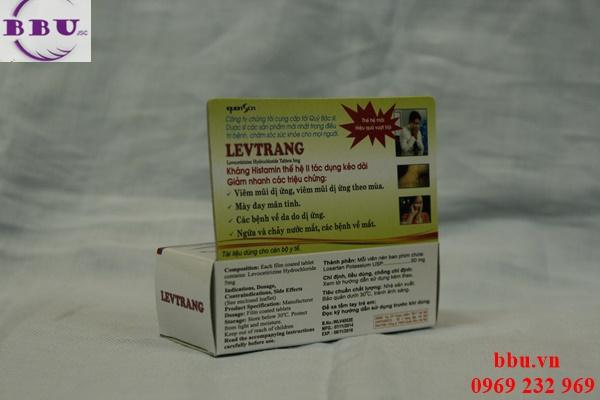 Levtrang 5mg điều trị viêm mũi dị ứng, mề đay, dị ứng da