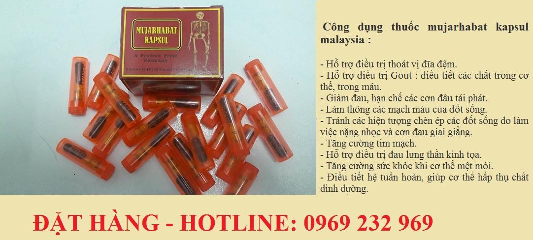 Thuốc điều trị viêm khớp, gai cột sống, Gout  mujarhabat kapsul Malaysia【Thuốc xương khớp Malaysia】
