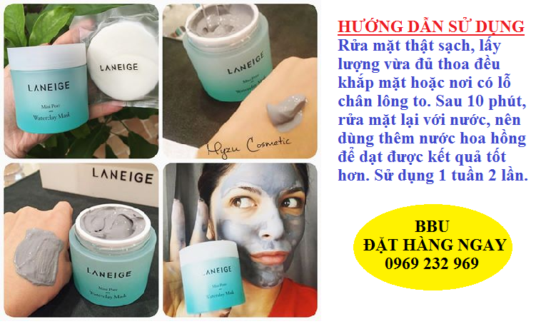 Mặt nạ bùn Laneige Mini Pore Waterclay Mask