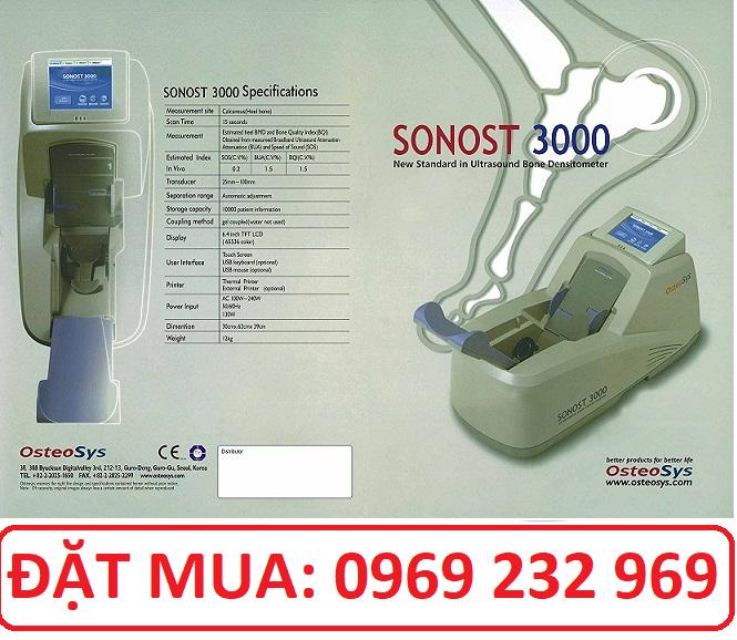 Máy đo loãng xương sóng siêu âm Sonost 3000