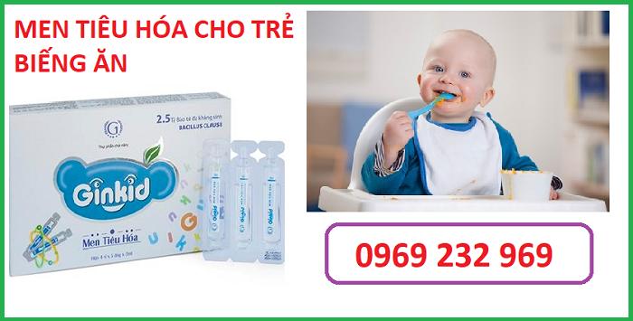 Men tiêu hóa cho trẻ biếng ăn Ginkid 5ml