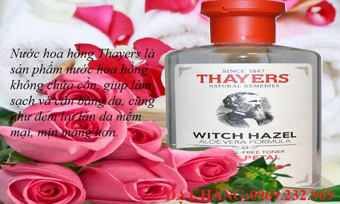 Nước hoa hồng Thayers Aloe Vera Formula