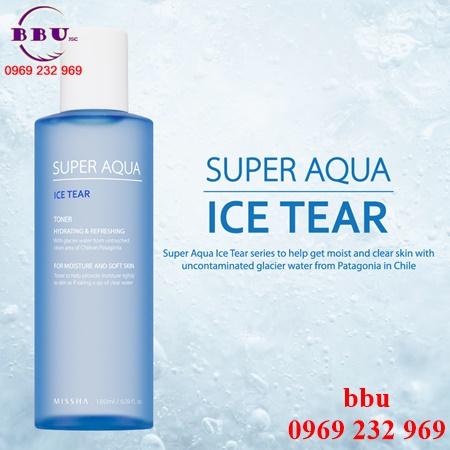 Nước hoa hồng Missha Super Aqua Ice Tear Toner