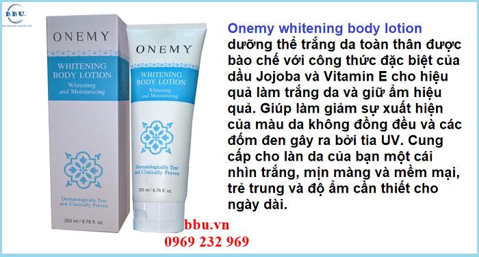 Onemy dưỡng thể trắng da toàn thân hiệu quả