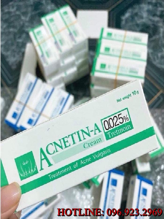 Phân phối sỉ trị mụn Acnetin - A 0.025% quận Bình Tân