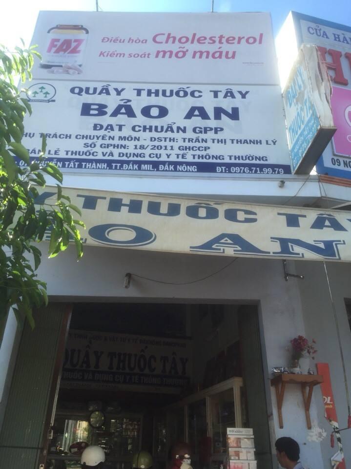 Quầy thuốc tây Bảo An - Đắk Nông