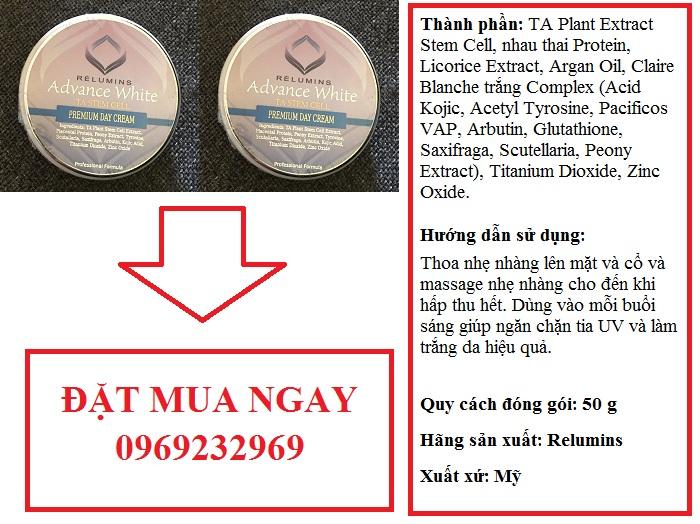 relumins premium day creams 250G