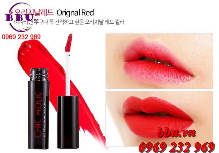 Son Kem Chic Holic Long Lasting Lip Lacquer 4.5ml của Hàn Quốc