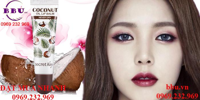 Sản Phẩm Son Dưỡng Môi Secretkey Coconut Oil Lip Balm