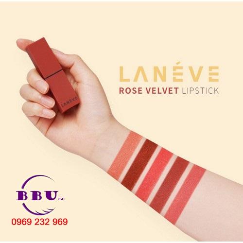 Son Thỏi Lì Môi Lanéve Rose Velvet Lipstick
