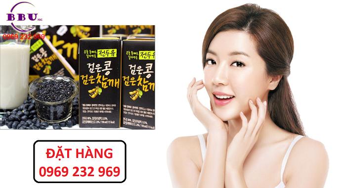 Bỏ sỉ Sữa đậu đen Hanmi Hàn Quốc thùng 16 hộp