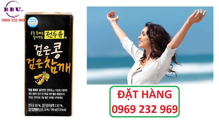 Thành phần Sữa đậu đen Hanmi Hàn Quốc thùng 16 hộp