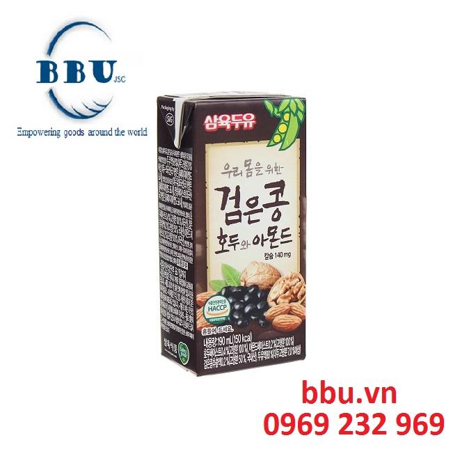Sữa đậu đen, óc chó, hạnh nhân Sahmyook từ hàn quốc (thùng 24 hộp)