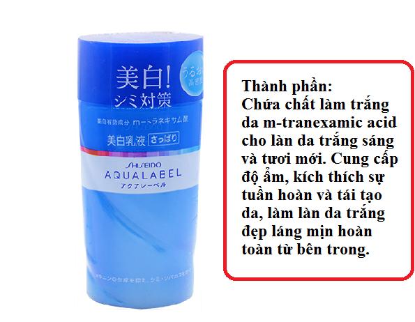 Sữa dưỡng ẩm trắng da Shiseido Aqualabel Nhật Bản