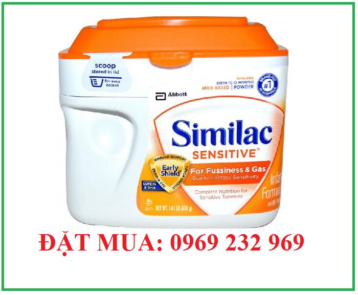 Bán sữa similac  sensitive cho trẻ từ 0 đến 12 tháng