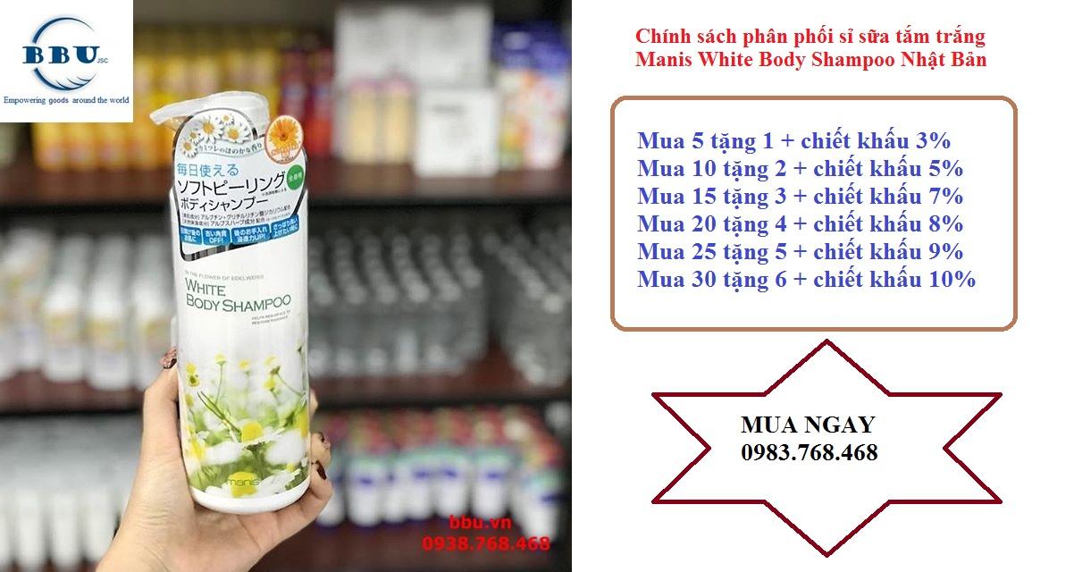 Sữa tắm trắng Manis White Body Shampoo