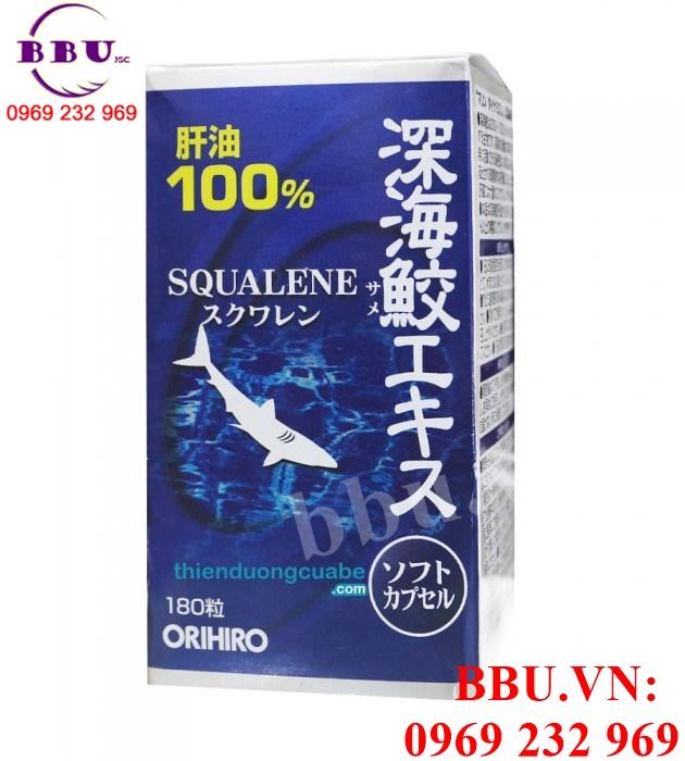 Viên uống sụn cá Squalene ORIHIRO 180 viên của Nhật
