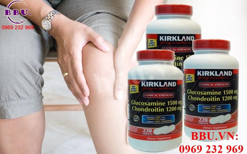 Thuốc bổ khớp Glucosamine Kirkland 220 viên của Mỹ