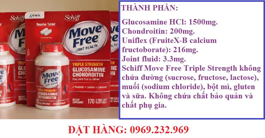 THUỐC ĐIỀU TRỊ XƯƠNG KHỚP MOVE FREE ADVANCED TOTAL JOINT HEALTH CỦA MỸ