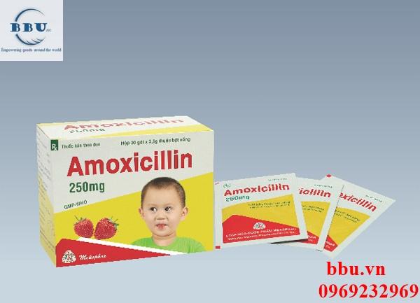 Thuốc điều trị nhiễm khuẩn dành cho trẻ em hương dâu Amoxicillin