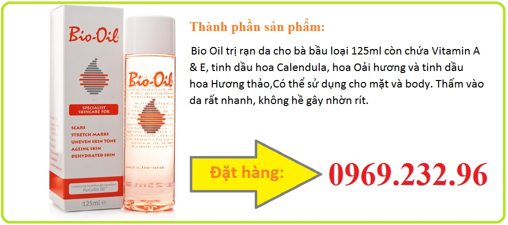 Tinh dầu Bio Oil trị rạn da cho bà bầu loại 125ml