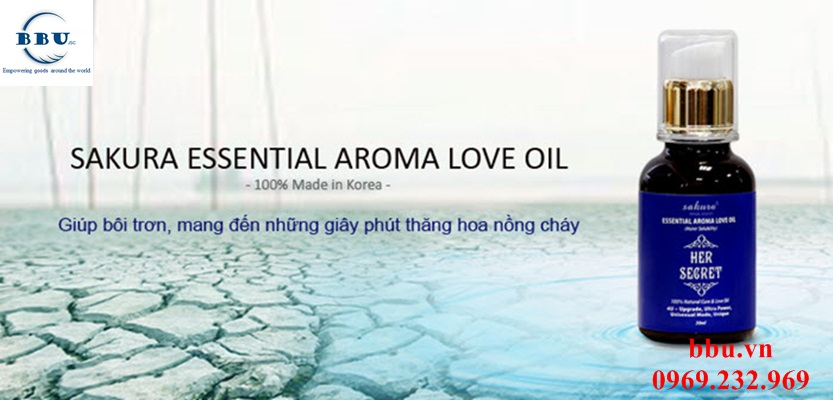 Tinh dầu tăng khoái cảm tốt nhất Sakura essential aroma love oil