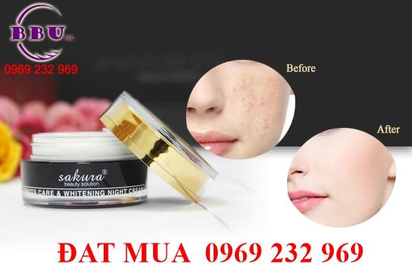 Kem dưỡng ban đêm Sakura Spots Care & Whitening Night Cream