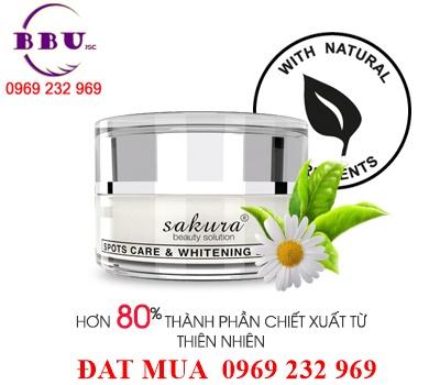 Kem dưỡng trắng da giúp giảm nám ban ngày Sakura Spots Care & Whitening Day Cream