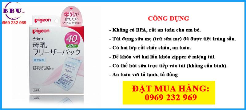 Túi trữ sữa Pigeon 40ml